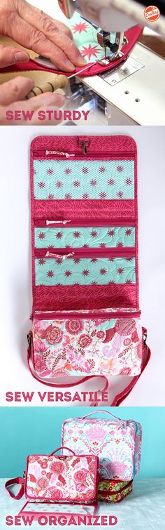 Need a new travel pal? Follow along in this online video led by Annie Unrein, and sew two fashionable, functional travel organizers that are ready for any test!