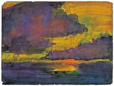 Emil Nolde - Abstract Landscape - watercolour