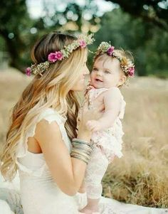 Beautiful mother & daugther