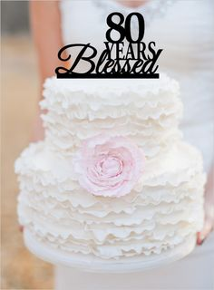 80th Birthday/Anniversary Cake Topper Personalized by walldecal76