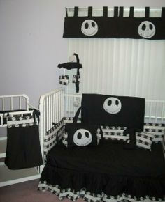 NIGHTMARE BEFORE CHRISTMAS Crib Bedding Set - $275 : Custom bedding for kids, toddlers, infants, small children