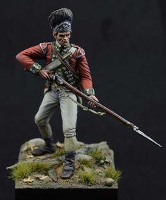 British grenadier, battle of Brandywine, 1777.  75mm. miniature, resin cast. www.semperfidelis.es