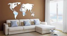 Welt Karte Acryl Wandspiegel von Dezignwithaz auf Etsy