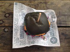 Black hamburger.