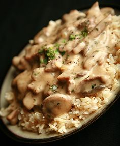 Gluten Free Beef Stroganoff - NOTHING like the instant stuff from a box. Did you check this awesome gluten free dessert simply for you . Gf Recipes, Dairy Free Recipes, Cooking Recipes, Healthy Recipes, Recipies, Spinach Recipes, Cooking Ideas, Drink Recipes, Cake Recipes