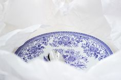 "Blue & white Arabia ""Fasaani"" plate / www.kaitholmen.com Love Blue, Blue And White, Porcelain, Plates, Dreams, Tableware, Kitchen, Licence Plates, Porcelain Ceramics"