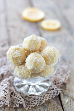 Lemon & Coconut Truffles