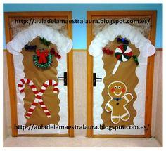 recopilacin de las puertas navideas del colegio en el colegio hemos participado todos los compis en la decoracin de puertas con moti