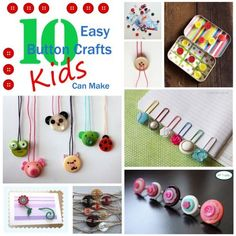 10 Easy Button Crafts Kids Can Make