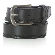 Wrangler Men's Quad Stitch Belt, Size: 34, Black