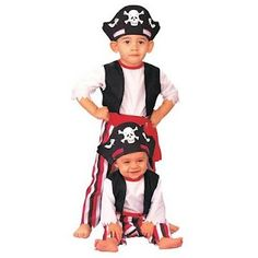 Child Tattoo Pirate Boy Costume Captain Jack Book Week Day Fancy Dress Outfit