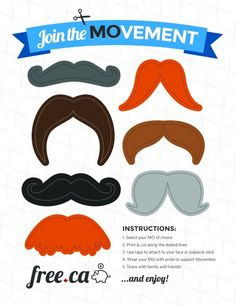 Free Mustaches Printables