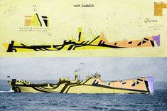 Dazzle Ships War Clover -- Dazzle Camo CUBISM AT WAR