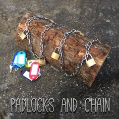 Padlock and chains fine motor activity