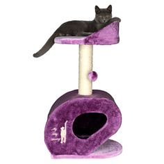 Cat tree with a top perch and hiding spot.   Product: Cat treeConstruction Material: Sisal and fabricColor...