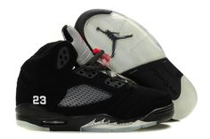 sale retailer 5deaf 75818 Kids Air Jordan 5 Retro Black Metallic Silver