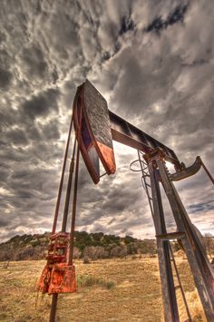 Pump jack sunset storm black and white by Southernlandscape, $30.00