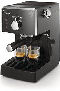 Saeco Poemia - Cafetera espresso manual, para café molido y monodosis ESE, color negro