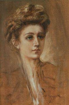"""Pietro Scoppetta, """"Volto Femminile"""" (""""Female Face"""")."""