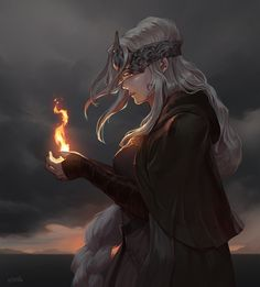 Sif Dark Souls, Arte Dark Souls, My Fantasy World, Dark Fantasy Art, Cool Anime Girl, Anime Art Girl, Fantasy Character Design, Character Inspiration, Dark Souls Fire Keeper