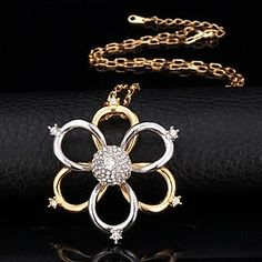 Fancy New Cute 18K Yellow Gold Platinum Plated Two tone SWA Rhinestone Two layer Pendant for Women High Quality - AUD $ 11.11