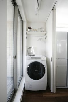 Optimize your small space & learn trick how to organize your dryer sheets, laundry room cabinet & other laundry room essentials Laundry Room Remodel, Laundry Room Cabinets, Laundry In Bathroom, Washroom, Small Apartments, Small Spaces, Drying Room, Laundry Room Design, Room Essentials