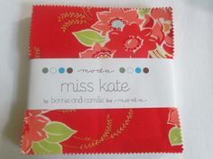 5 Inch Charm Pack Miss Kate by Bonnie & Camille by EyeCandyQuilts, $8.53