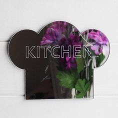 Kitchen Engraved Chefs Hat Acrylic Mirror Sign - Suave Petal Acrylic Mirror, Window Cleaner, Home Signs, Handmade Items, Chefs, Hat, Kitchen, Chip Hat, Cooking