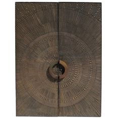 1stdibs | Mid Century Bronzed Sunburst Doors by Forms + Surfaces