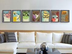 #faces #art #illustration #draw #characters #colorful #wall #framed #frames