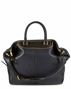 "Some of you have to get in on this: TOD'S ""Miky"" Medium Leather Bowler Bag"