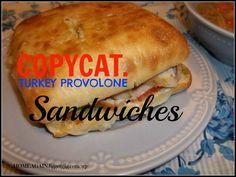 COPYCAT Hot Turkey Provolone Sandwiches like Costco.