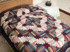 diamond log cabin quilt pattern   Colorado Log Cabin Quilt -- outstanding ably made Amish Quilts from ...
