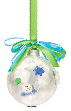 Nicole™ Crafts Polar Plastic Ball Ornament #ornaments #craft #christmas