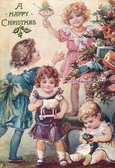 Weinlese-Weihnachtskarten von AL Bowley