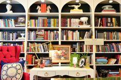 sadie + stella: Monday Musings: Art on shelves