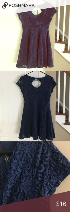 Jessica Simpson Navy Blue Dress Worn twice. In excellent condition. Model has the same dress in different color. From smoke free and pet free home. Jessica Simpson Dresses