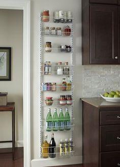 Wall Door Rack Store Organize Adjustable Racks Holders Bar Both Wire Spacing USA