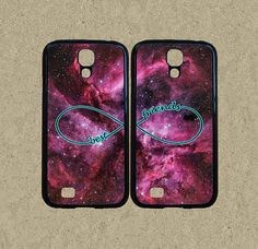 Samsung Note 3 case,Samsung S4 case,Samsung S3 case,Samsung Note 2 case,Samsung S3 mini case,Samsung S4 mini-Best Friends,nebula,in plastic by Ministyle360, $29.99