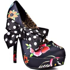 This shoe has got everything: polka dots, flora, AND leopard?! Its tacky and sassy and I like it :)