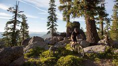 mountain bike in lake tahoe