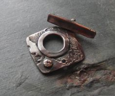 Shibuichi Toggle Clasp Handmade Zoa Arts Sundance Style by dzstash, $18.00