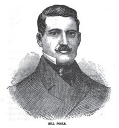 "William Poole, aka ""Bill the Butcher"". Poole was a champion New York City pugilist in 1855 ..."