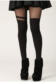 Anarita Over the Knee Stripe Tights http://www.missguided.co.uk/anarita-over-the-knee-stripe-tights