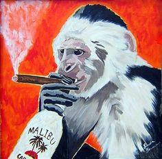 Drunk Monkey Studio | Monkey Art | Monkey Paintings | Monkey Prints | Drunk Monkey Studio
