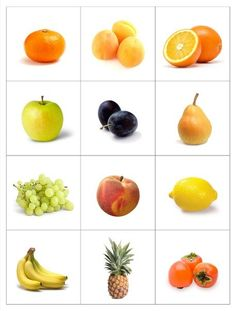 39 Ideas fruit and vegetables activities learning for 2019 Fruit Box, New Fruit, Image Fruit, Fruit Names, Vegetable Pictures, Theme Nature, Flashcards For Kids, Fruit Decorations, Educational Games