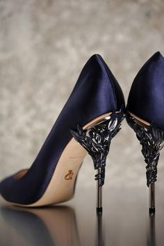 The Eden Eve Pump in Black Satin and Silver Leaves is part of an exclusive  preview e448e36b30dc
