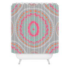 Allyson Johnson Gray Medallion Shower Curtain | DENY Designs Home Accessories