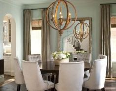 Love the idea of a big leaning mirror in the dining room