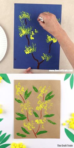 Spring Art Projects, Spring Crafts For Kids, Christmas Crafts For Kids, Fall Crafts, Diy Crafts For Kids, Art Activities For Kids, Preschool Crafts, Australia Crafts, Christmas Paintings On Canvas
